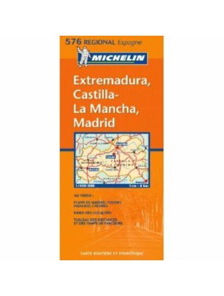 Spanyolország (Közép) Extremadura résztérkép - Michelin 576