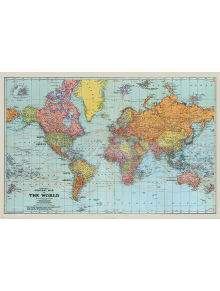 Cartographia  - Történelmi világtérkép Stanfords - keretes