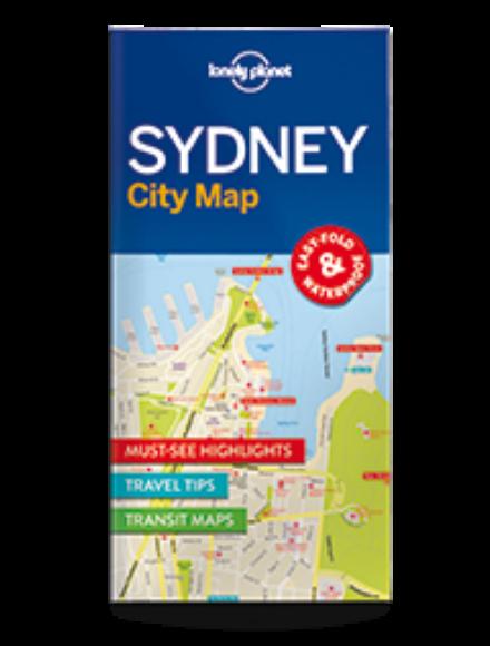 Sydney laminált térkép