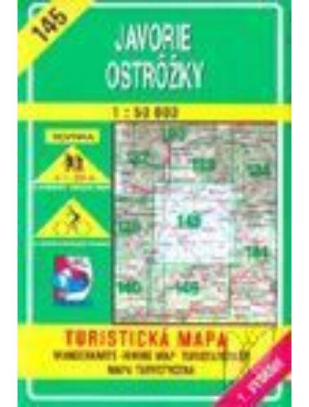 HM145 Jávoros, Osztrovszki-hegység turistatérkép