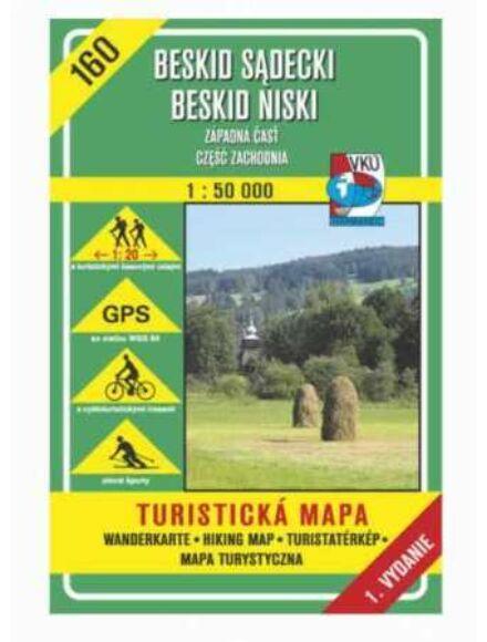 HM160 Szandeci-Beszkdiek; Alacsony-Beszkidek (nyugat) turistatérkép