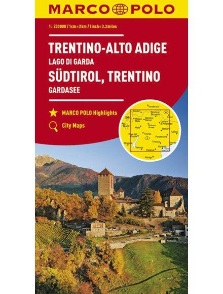 Cartographia  - Olaszország résztérkép - Dél-Tirol, Trentino, Garda-tó térkép