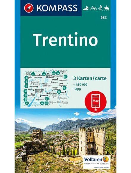 Cartographia  - K 683 Trentino turistatérkép