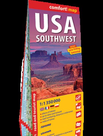 Cartographia  - USA délnyugat comfort térkép