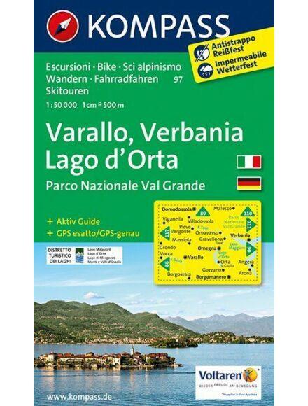 Cartographia  - K 97 Varallo, Verbania, Lago d'Orta turistatérkép