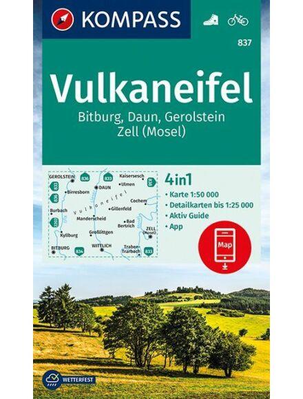 Cartographia  - K 837 Vulkaneifel, Bitburg, Daun, Gerolstein, Zell (Mosel) turistatérkép