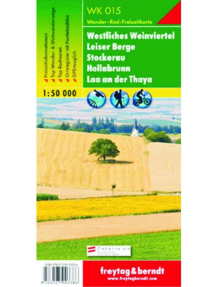 Cartographia  - WK015 Westliches Weinviertel-Stockerau-Leiser Berge-Hollabrunn-Laa an der Thaya turistatérkép