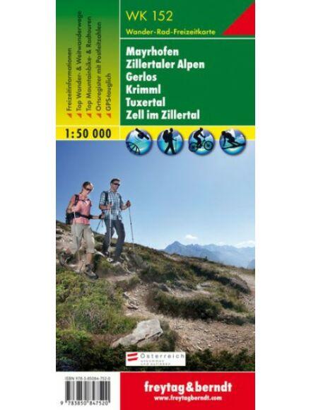 Cartographia  - WK152 Mayrhofen-Zillertaler Alpen-Gerlos-Krimml-Tuxertal- Zell im Zillertal turistatérkép