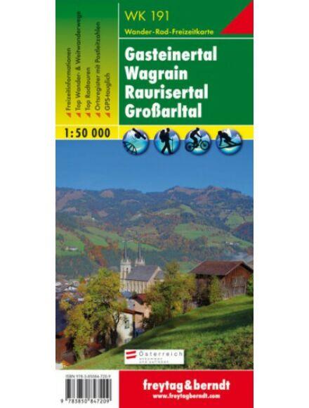Cartographia  - WK191 Gasteinertal-Wagrain-Raurisertal-Grossarltal turistatérkép