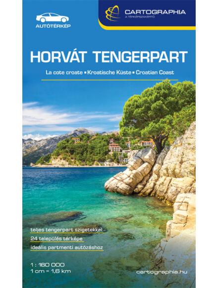 Horvát tengerpart (Adria) térkép