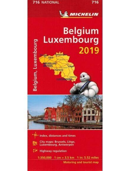 Cartographia  - Belgium és Luxemburg térkép (716)