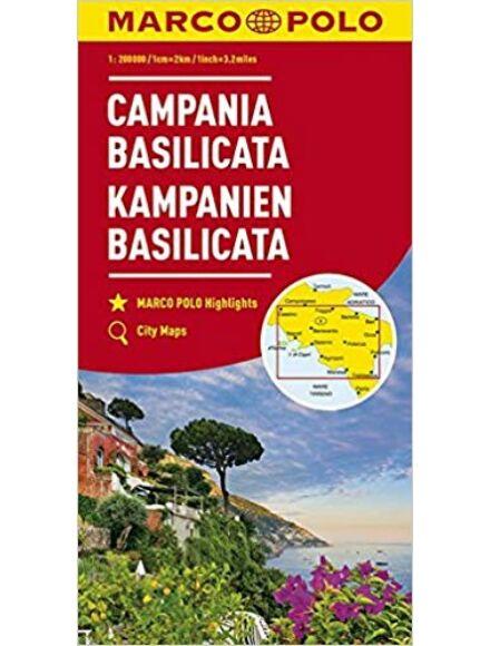 Campania, Basilicata régiótérkép