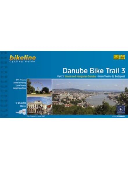 Duna kerékpáros kalauz 3. Bécs - Budapest (angol)