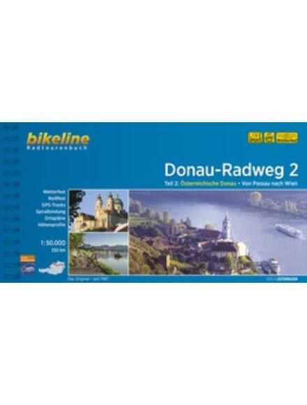 Cartographia  - Duna kerékpáros kalauz 2. Passau - Bécs (német)