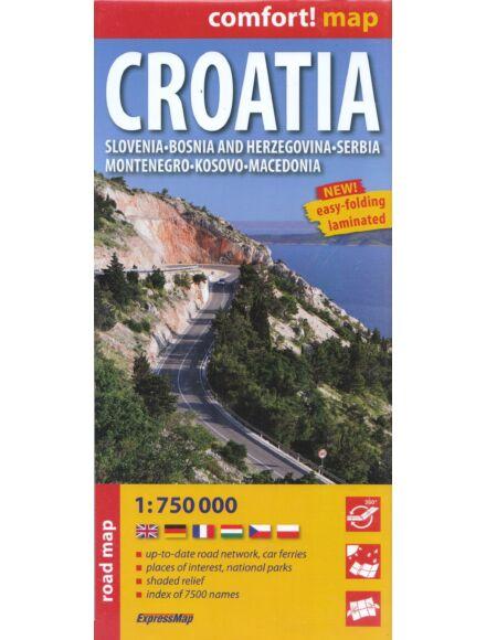 Horvátország Comfort térkép