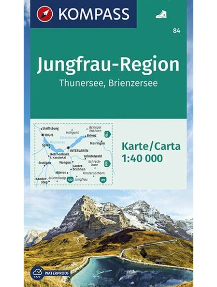 K 84 Jungfrau Régió, Thundersee, Brienzersee turistatérkép