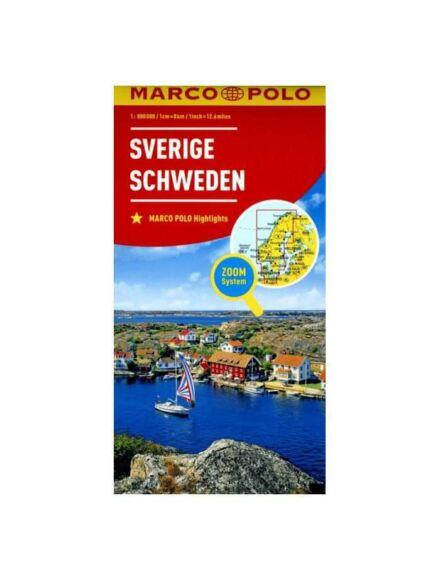 Svédország térkép